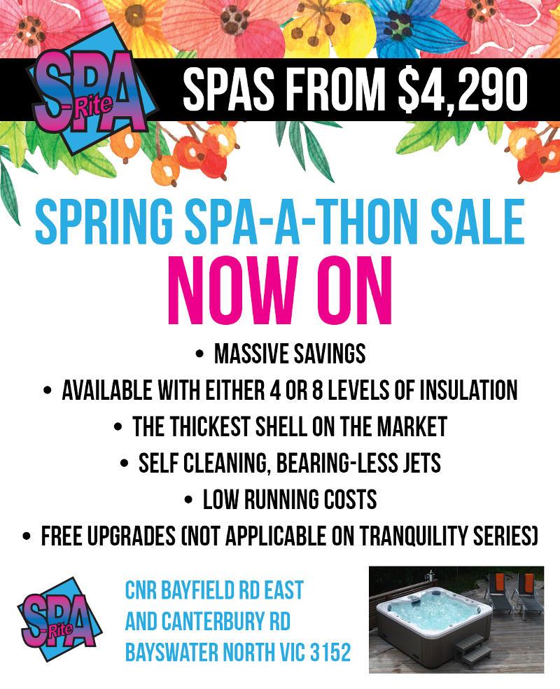 SpaRite Spring Sale
